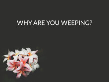 Why Are You Weeping?